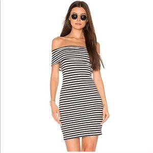 Cupcakes & Cashmere Dress Off the Shoulder Striped